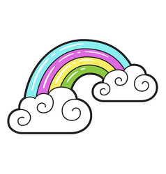 rainbow icon bright decoration design and fantasy vector image