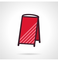 Red empty sandwich signboard icon vector