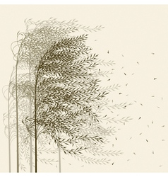 Reed background vector