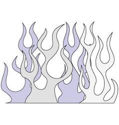 Retro Flames vector