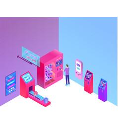 Self ordering kiosk vector