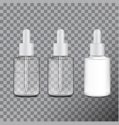 set of realistic cosmetic container tube for vector image