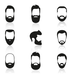 Set of vintage bearded men vector image
