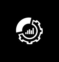 set up analytics icon flat design vector image