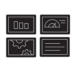 slide presentation black concept icon vector image