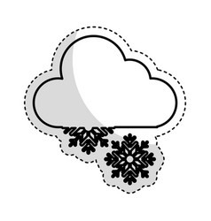 Snow storm weather isolated icon vector