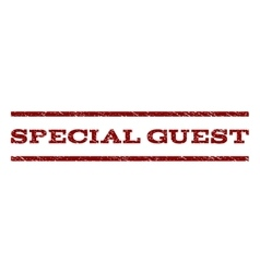 Special Guest Watermark Stamp vector