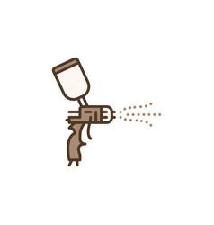 Spray gun painting concept colored icon vector