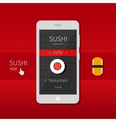 Sushi app vector image