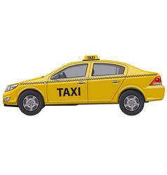 taxi car auto sedan vector image
