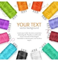 thread spool banner vector image