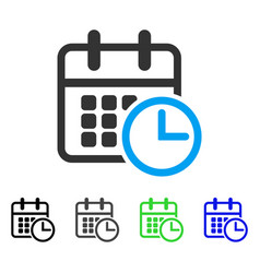 Timetable flat icon vector