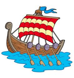 Viking boat vector