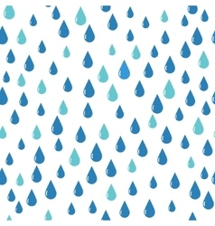 Water drops pattern blue color vector