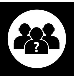 who icon vector image