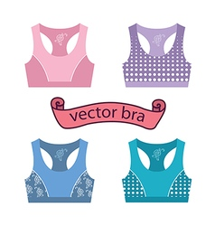 Woman sport bra training top vector