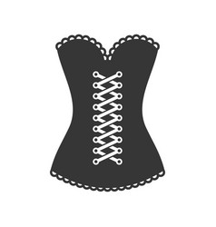Women black corset icon on white background vector