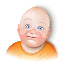 baby smiling vector image vector image
