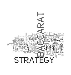 baccarat strategy myth or possibility text word vector image vector image