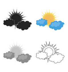 cloudy weather icon in cartoon style isolated on vector image