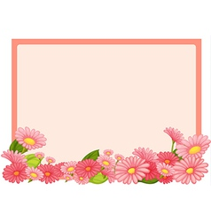 Flowers and a pink board vector image