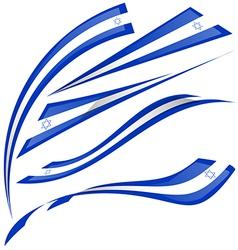 Israel flag set on white background vector