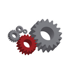 mechanical cogwheel important part vector image
