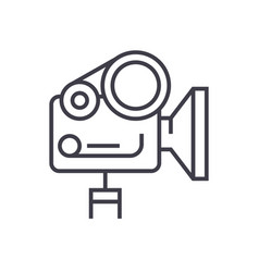 movie camera linear icon sign symbol on vector image