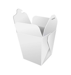 opened paper box for food vector image vector image