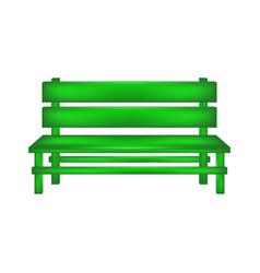 Rural bench in green design vector