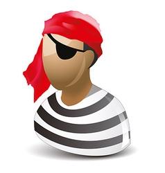 Pirate icon vector image