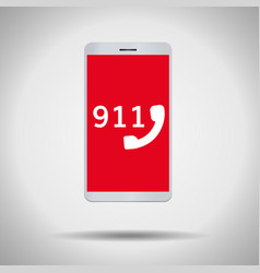 911 call mobile phone symbol vector image vector image