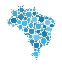Brasil map mosaic of circles vector image