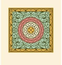 Elegant drapery tile design floral elements vector image