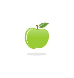 green apple fruit logo vector image