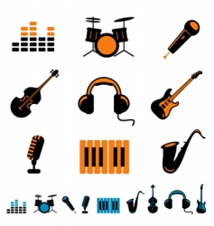 music icon vector image vector image