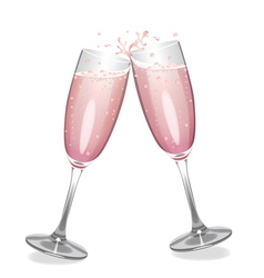 Pink champagne vector