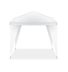 realistic template blank white folding tent vector image