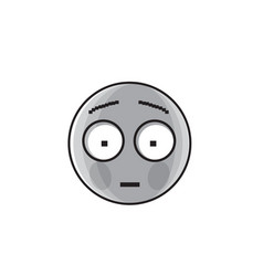 Sad cartoon face shocked negative people emotion vector
