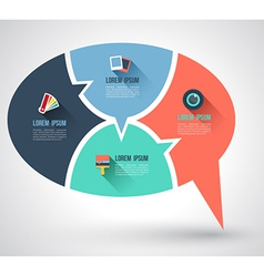 Speech relationship with flat icons vector image vector image