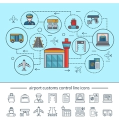 Airport service concept vector