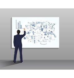 Businessman drawing vector image vector image