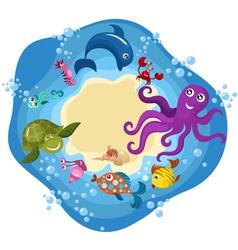 cartoon sea creachers vector image