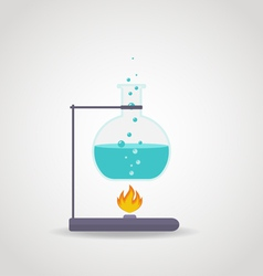 Lab chemistry tube vector image