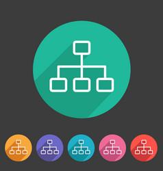 line hierarchy icon flat web sign symbol logo vector image