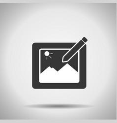 photo edition icon vector image vector image