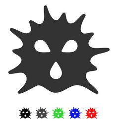 virus structure flat icon vector image