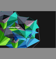 3d triangle abstract background vector image