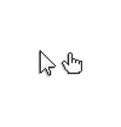 8 bit pixel cursor set vector image