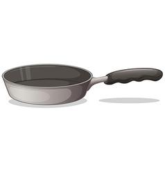 A gray cooking pan vector